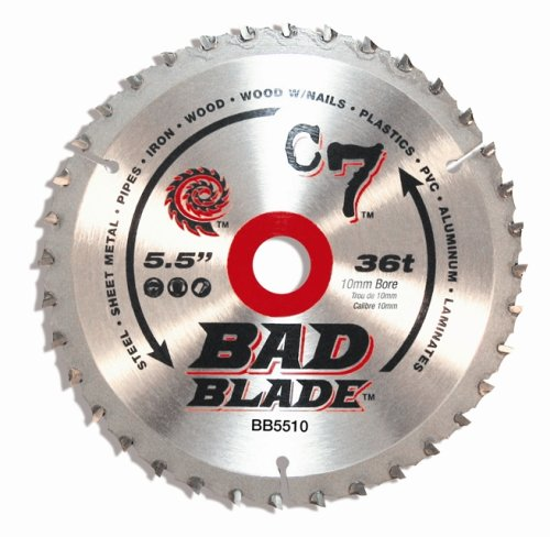 - KwikTool USA BB5510 C7 Bad Blade 5-1/2-Inch 36 Tooth With 10mm Arbor