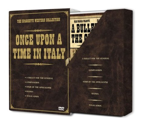 Once Upon a Time in Italy - The Spaghetti Western Collection (A Bullet for the General / Companeros / Four of the Apocalypse / Keoma / Texas Adios) (Boxed A Once Set Upon Time)