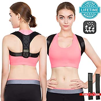 453b65009bf Posture Corrector for Women Back Corrector for Men Effective and  Comfortable Adjustable Posture Corrector Belt Invisible Upper Clavicle  Straightener ...