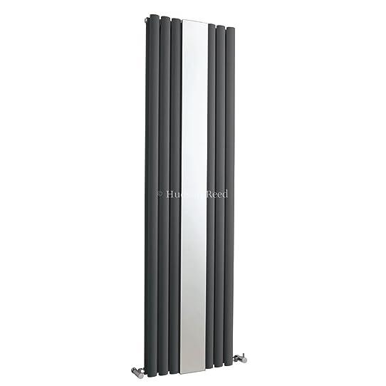 radiateur miroir vertical design moderne anthracite - eau chaude ... - Radiateur Salle De Bain Chauffage Central