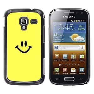 Caucho caso de Shell duro de la cubierta de accesorios de protección BY RAYDREAMMM - Samsung Galaxy Ace 2 I8160 Ace II X S7560M - Happy Smiley Face