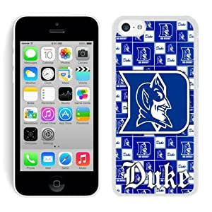 iPhone 5C Case,2015 Hot New Fashion Stylish NCAA Atlantic Coast Conference ACC Footballl Duke Blue Devils 6 White Case Cover for iPhone 5C