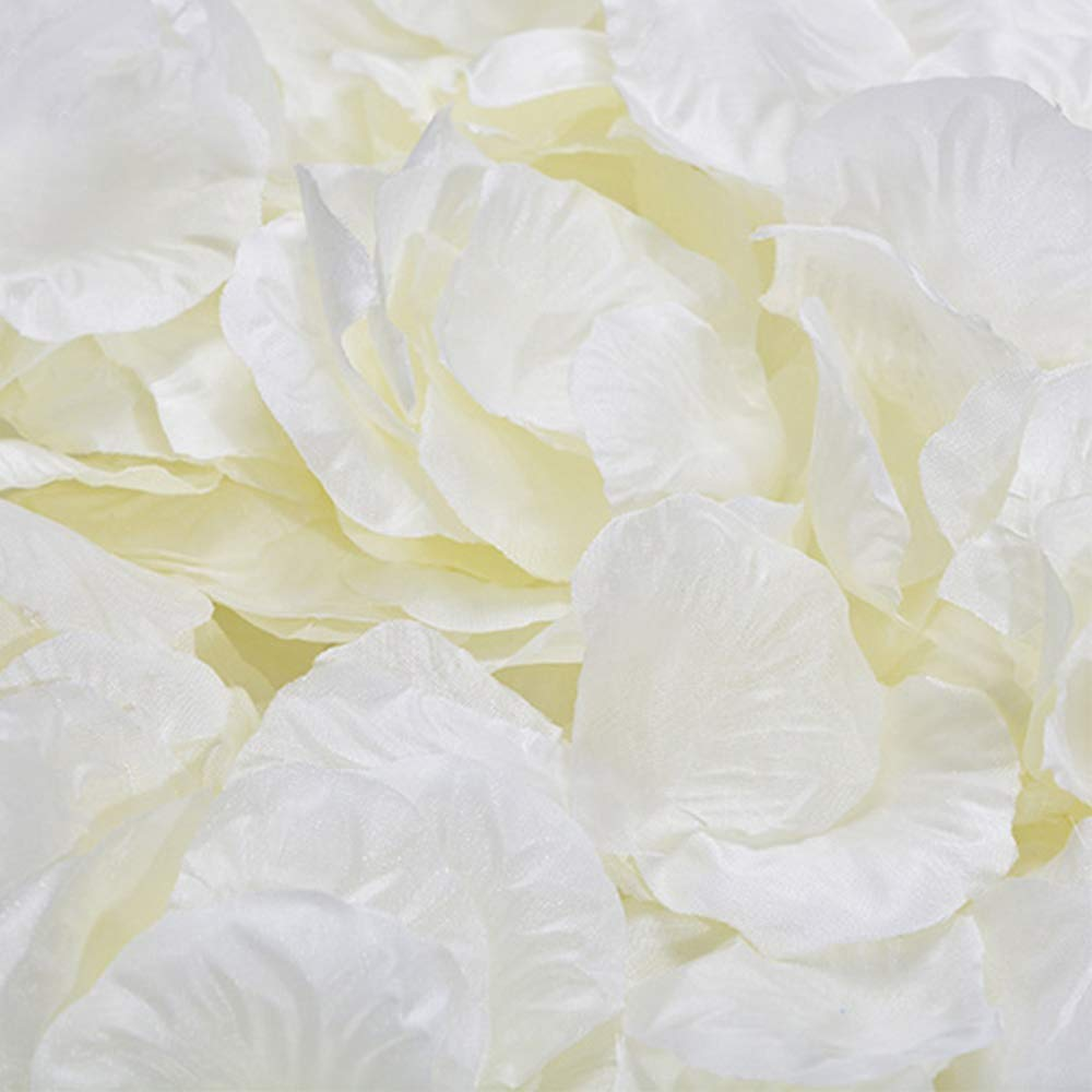 Nicedeal Ivory 1000 pcs Silk Rose Petals Wedding Party Decorations Flower Favors (Ivory) Wall Sticker and Deco