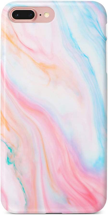 uCOLOR Case Cute Case for iPhone 8 Plus/7 Plus/6S Plus/6 Plus Pastel Pink Marble Soft TPU Silicone Shockproof Cover for iPhone 8 Plus/7 Plus/6S Plus/6 Plus(5.5
