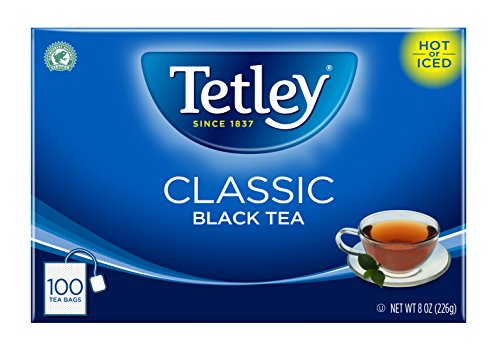 Tetley Black Tea, Classic, 100 Tea Bags (Pack of 6) (Packaging may vary)