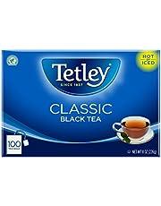 Tetley Black Tea, Classic, 100 Tea Bags (Pack of 6)