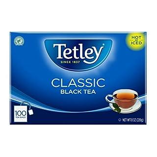 Tetley Black Tea, Classic, 100 Tea Bags (Packaging may vary), Pack of 6