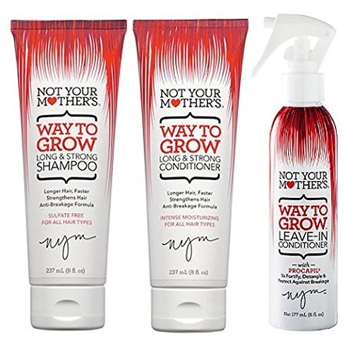 Not Your Mother's Way to Grow Bundle, Shampoo/Conditioner/Leave-In (Products To Help My Hair Grow Faster)