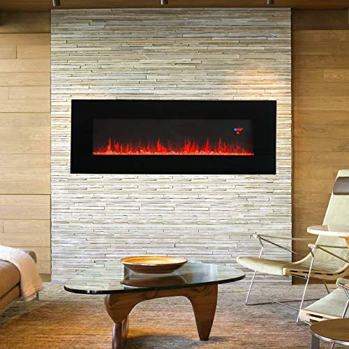 Kuppet 50 Electric Fireplace Wall Mounted 1500w Fireplace Heater Linear Fireplace Timer Multicolor