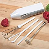 Deluxe Cordless Mini Mixer Blender Whipper Whisk Battery Operated...
