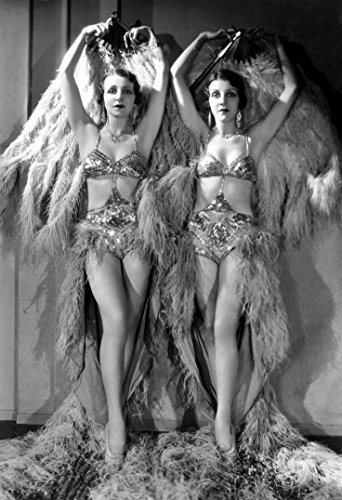 Historical Photo Collection 8 x 10 Photo Burlesque Girls 1920s-Flapper-Dancers On High Qquality Fiji Film -