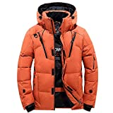 PLENTOP Men Boys Casual Warm Hooded Winter Zipper Coat Outwear Jacket Top Blouse