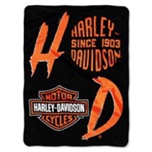 - Northwest Harley Davidson Motorcycle Royal Plush Twin Size Blanket 60x80 Inches - Stack Up