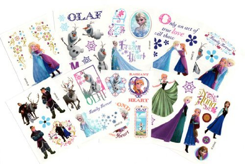 (Disney Frozen Temporary Tattoos (Set of 10 Sheets)(Includes Princess Anna, Queen Elsa, Olaf, Kristoff and)