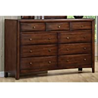Coaster 200643 Casual Contemporary Dresser, Walnut