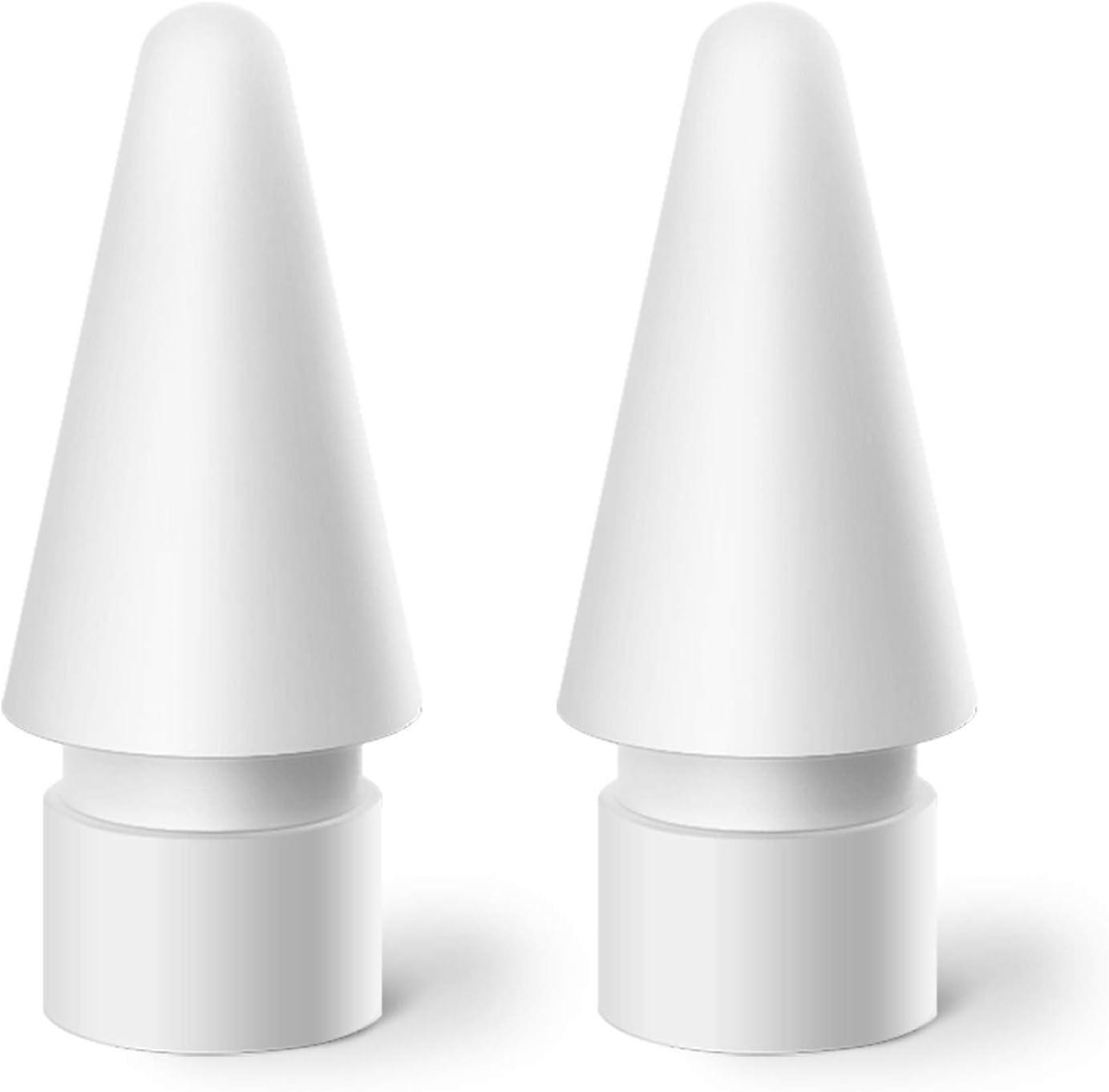 MJKOR Tips Replacement for Apple Pencil 1st Gen & 2nd Gen, Pen Nibs for iPad Pro (2 Pack)