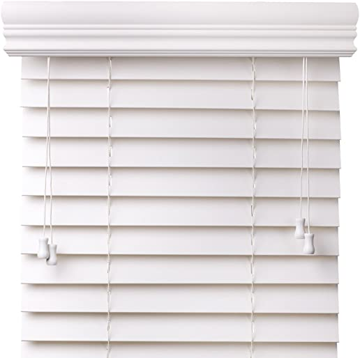 Premium 2 inch faux wood blinds, Snow White, 32 1 4 x 60