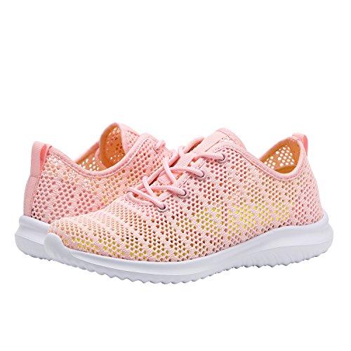 Pink Shoes Sneakers Fashion YILAN Sport Casual Women's 6 Flexible qF0x70