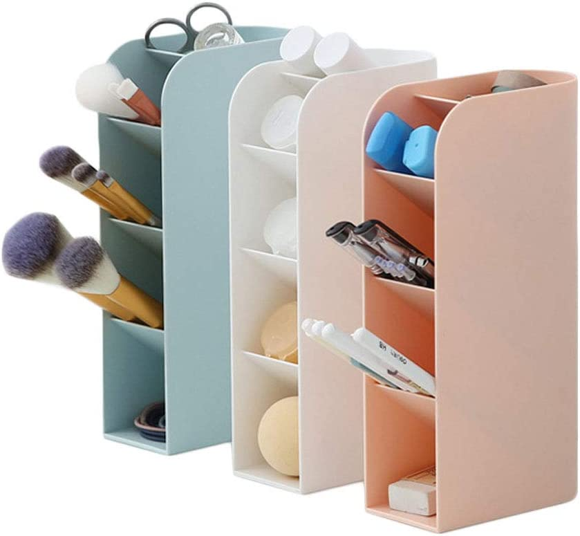 penna per casa e ufficio Small Bianco crema organizer multifunzionale in plastica da scrivania matita con telecomando trucco Fovor