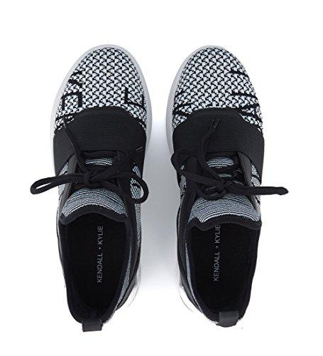 Kendall and Kylie Sneaker Braydin in Schwarz und Weiß Schwarz