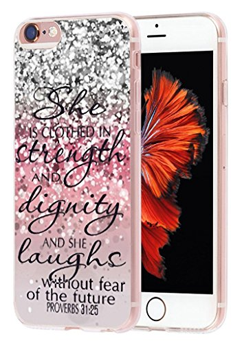 Price comparison product image Case for Iphone 7 bible verse for girls MUQR Apple Iphone 7 Cover protective slim rubber fashion silicone - christian songs Design