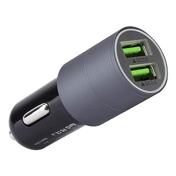 ASHATA Dual-USB Cargador de Aleación de Aluminio para Coche ...