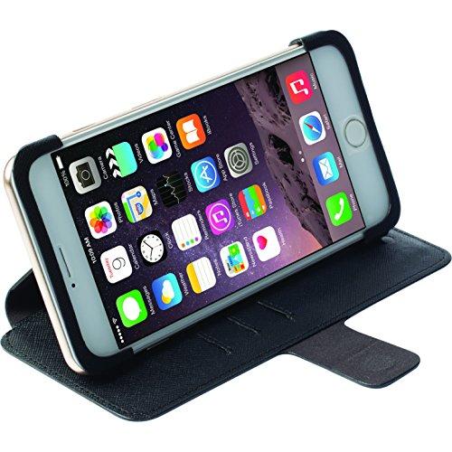 Krusell Malmö Bookcover Schutzhülle mit Standfunktion in schwarz - für Apple iPhone 6 Plus
