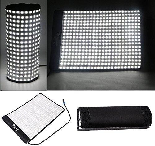 SOONWELL 5600K Waterproof LED Light 34W Mat Super Slim Lightweight Flexible Lamp for Video Camera Fliming Photographic Studio Light by SOONWELL