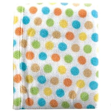 978fc0e4c519 Amazon.com: Luvable Friends Dot Print Coral Fleece Blanket, Yellow: Baby