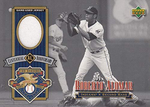 2002 Upper Deck AL Centennial Memorabilia #ALJRA Roberto Alomar Jersey NM-MT+ MEM New York Mets from Upper Deck