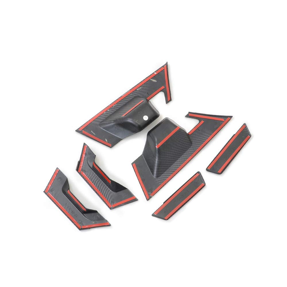 Kadore Rear Door Handle Cover Trim+Door Handle Bowl Cover For Toyota CHR 2016-2018 ABS Chrome 6PCS//SET