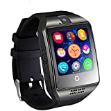 Smart Watch Bluetooth Smartwatch with SIM Card Slot \Camera\Touch Screen,Waterproof Phones Wrist Watch Sports Fitness Tracker Compatible with Android iPhone for Men Women (black)