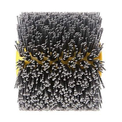 SIGNI New Abrasive Wire Drawing Wheel Drum Burnishing Polishing Brush for wooden furniture floor polishing 120X100mm 400 Grit 1pack