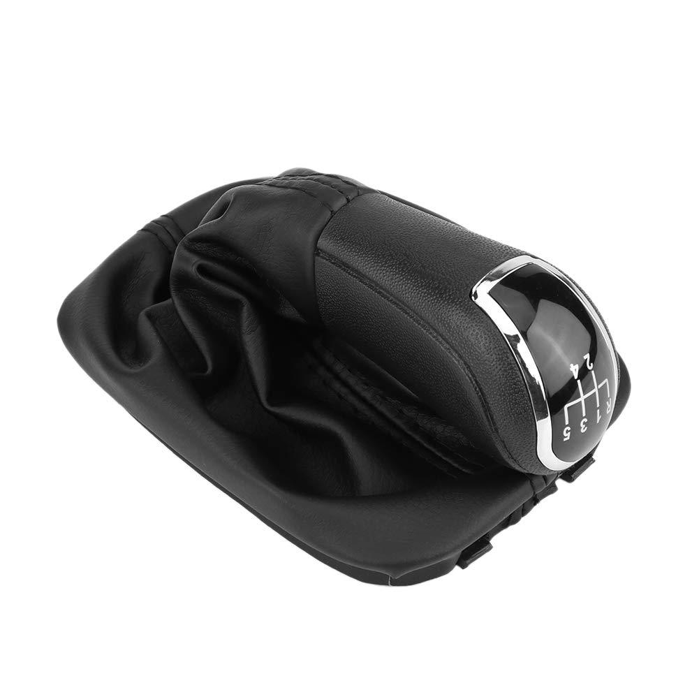 Pommeaux de leviers de vitesse Pommeau de levier de vitesse avec couvercle de soufflet 5 vitesses Vitesse Bouton de levier de vitesse b/âton Levier couvercle de soufflet PU pour Fabia MK1 6Y