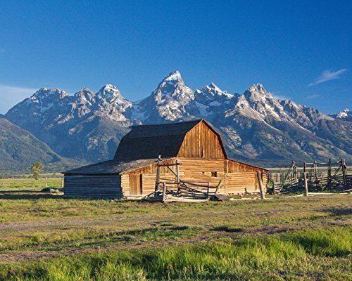 Photograph of the Moulton Barn in Grand Teton National Park, Wyoming -