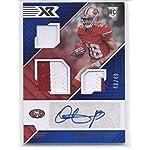 740c41d11 2018 Panini XR Blue  178 Dante Pettis JSY AU 49 49ers NFL Football Card ( Memorabilia.