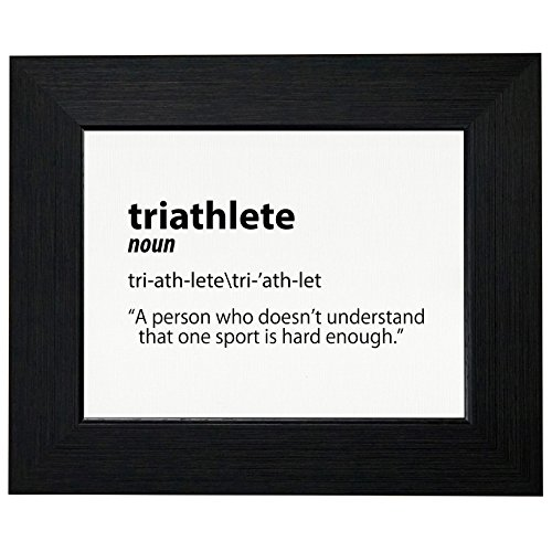 Dictionary Stand Finish (Funny Triathlete Dictionary Definition Ironman Framed Print Poster Wall or Desk Mount Options)