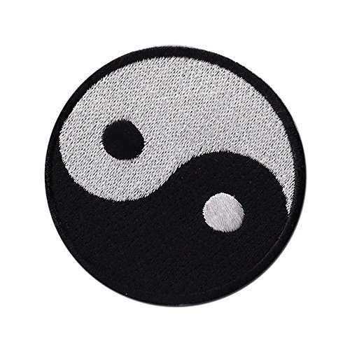 - Yin Yang ying tao hippie hippy retro boho weed EMBROIDERED PATCH Badge Iron-on, Sew On 3