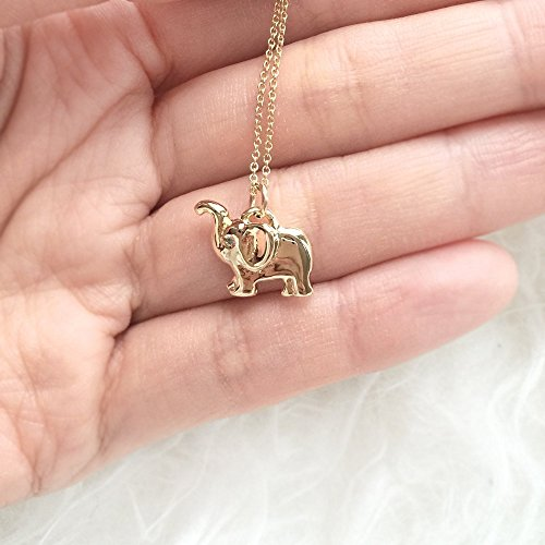 Diamond Elephant Charm Necklace, Gemstone Necklace, Animal Charm, Handmade, Lost wax cast