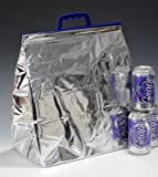 13'' x 14'' x 7-1/2'' Hot/Cold Insulated Thermal Cooler Food Bags - 12-pack Capacity (25 Bags) - AB-710-3-04