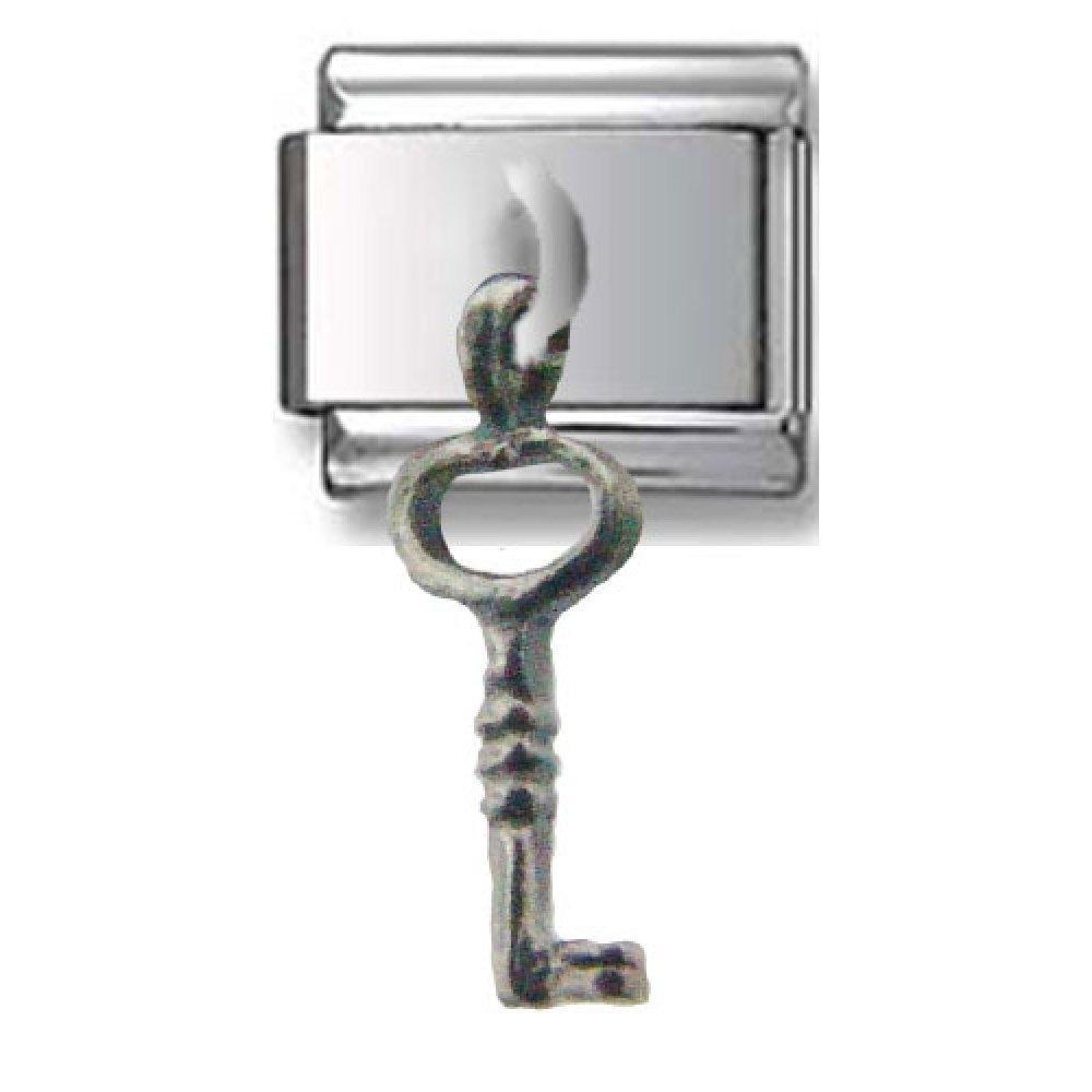 Hanging Key Silver Italian Charm
