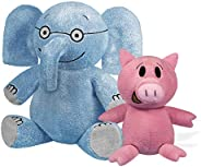 "YOTTOY Mo Willems Collection | Pair of Elephant & Piggie Soft Stuffed Animal Plush Toys – 7"" & 5"""