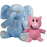 "YOTTOY Mo Willems Collection | Pair of Elephant & Piggie Soft Stuffed Animal Plush Toys – 7"" & 5"" Sitting"