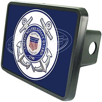 Elektroplate United States Coast Guard 1790 Anchor Black Metal Hitch Cover