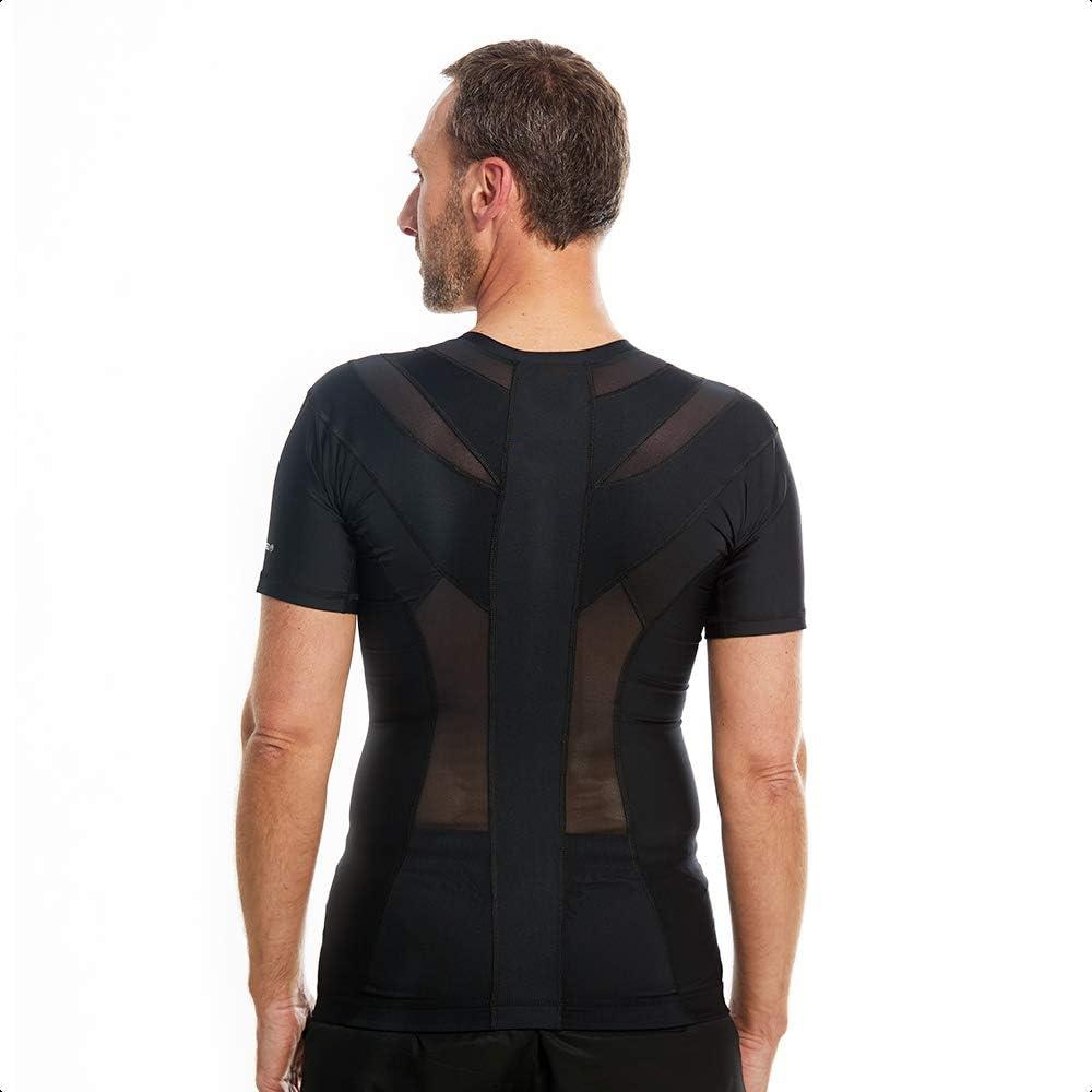 Camisa de postura para hombre 2.0 con cremallera | Soporte de postura, activación muscular, tensión de espalda/alivio del dolor ||