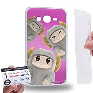 Case88 [Samsung Galaxy Grand Prime] Gel TPU Carcasa/Funda & Tarjeta de garantía - 3D Visual Design Sheepy B 3D Animals Art2074