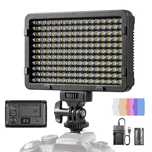 LED Video Light, ESDDI 177 LED Ultra Bright Dimmable Camera Panel Light with Battery and USB Cable for Canon, Nikon, Pentax, Panasonic, Sony, Samsung, Olympus and All DSLR Cameras from ESDDI