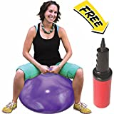 WALIKI TOYS Hopper Ball For Adults (Hippity Hop Ball, Hopping Ball, Bouncy Ball With Handles, Sit & Bounce, Space Hopper, Kangaroo Bouncer, Jumping Ball, 29 Inches, Hurricane Purple, Pump Included)