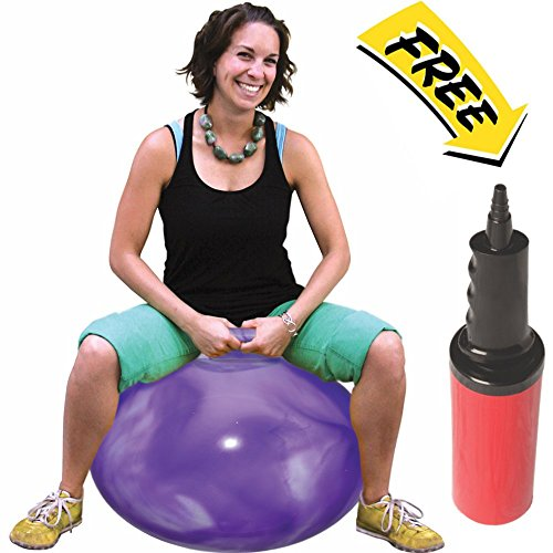 WALIKI TOYS Hopper Ball For Adults (Hippity Hop Ball, Hopping Ball, Bouncy Ball With Handles, Sit & Bounce, Space Hopper, Kangaroo Bouncer, Jumping Ball, 29 Inches, Hurricane Purple, Pump Included) (Hop Hippity Toy)