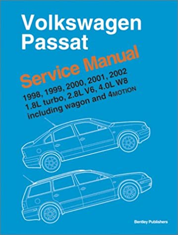 volkswagen passat 1998 1999 2000 2001 2002 service manual 1 8 rh amazon com 2000 vw passat service manual pdf 2000 passat owners manual free download